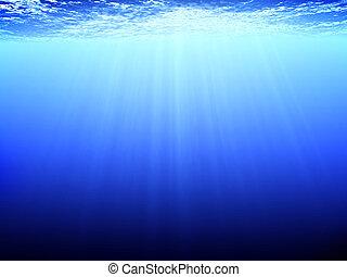 Underwater scene - The underwater scene. 3d render