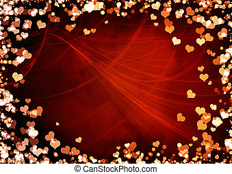 Valentine background - Horizontal valentine background with...