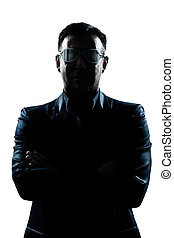 business man with strange glasses - one caucasian man...