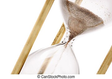 Hourglass - Close up of hourglass isolated on white...