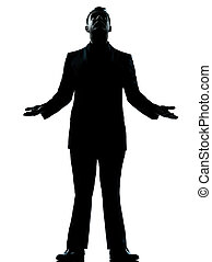 one business man hopeful looking up silhouette