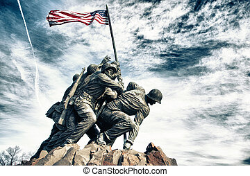 Marine Corps War Memorial also called the Iwo Jima Memorial...