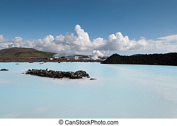 Blue Lagoon in Reykjavik in Iceland - Blue Lagoon with...