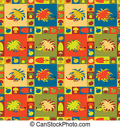 Funny seamless pattern