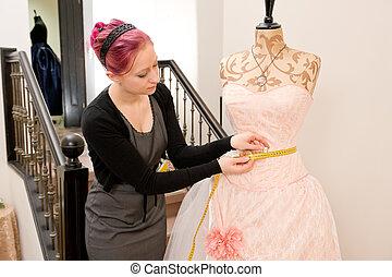 Dressmaker - Young dressmaker in her studio