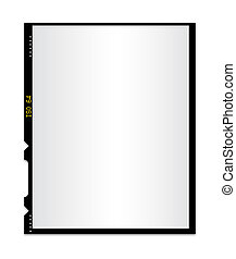 Blank photo film isolated 2 - Isolated blank photo film,...