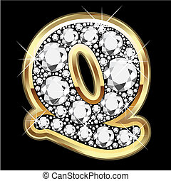 Q gold and diamond bling