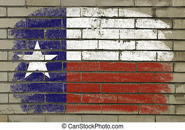 Chalky and grunge american state of texas flag painted with...