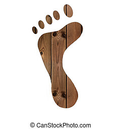 foot - wood foot texture