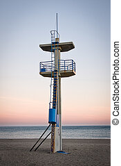 watchtower on a beach
