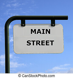 Main strret - sign main street