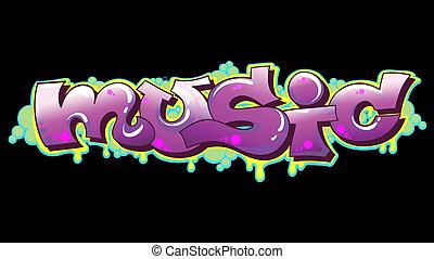 Graffiti Music Urban Art Vector Illustration