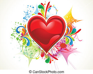 abstract colorful grungy heart