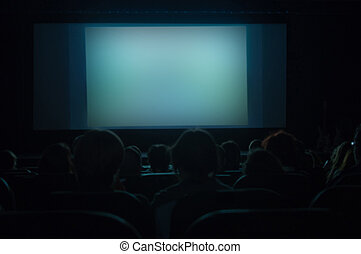 Cinema Screen - blank cinema screen for your message to...
