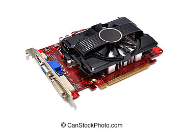 video card on a white background