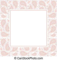 Paisley Pattern Border - Pretty pink paisley border