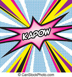 POP ART Kapow - Pop Art inspired illustration