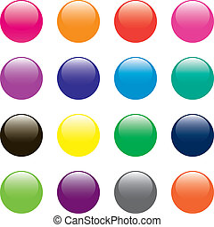 Round Buttons - Round Glossy Buttons