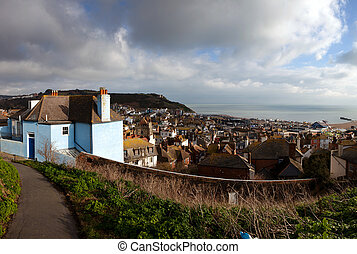 England South Coast view house cityscape