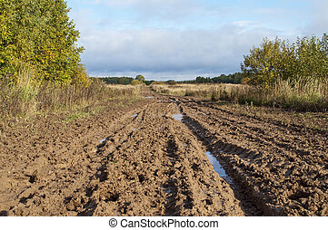 Dirt road after the rain - Country dirt road after the rain,...