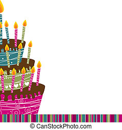 cake vector - cake card over white background vector...