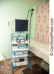 endoscope equipment in medical clinic