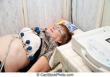 patient during ECG  procedure