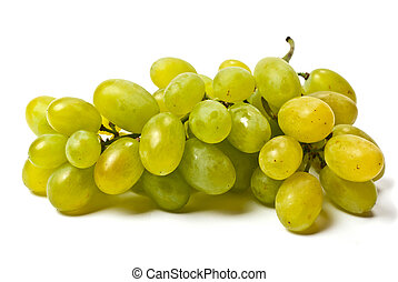 White grape  isolated on the white background