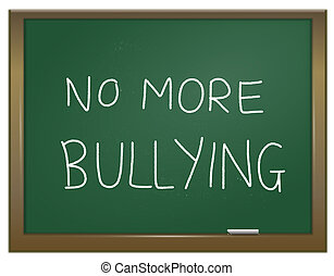 Stamp out bullying. - Illustration depicting a green chalk...
