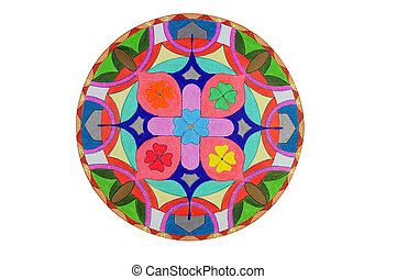 LÁPIS, desenhado, Mandala