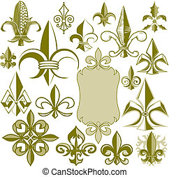 Fleur de lis Collection - Clip art collection of fleur de...