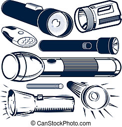 Flashlight Collection - Clip art collection of various...