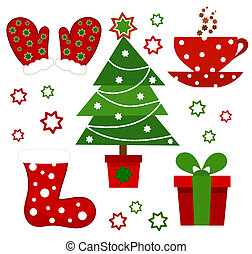 Christmas symbols - Set of Christmas symbols Vector...