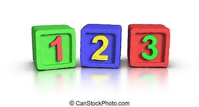 Play Blocks - Numbers