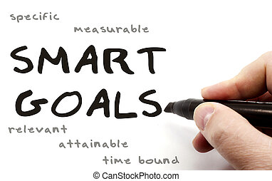 Smart Goals hand written - A hand writing Smart Goals with a...