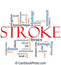 Stroke word cloud concept - A Stroke word cloud concept with...