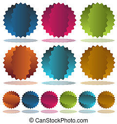 Starburst Dent Set - An image of a colorful starburst dent...