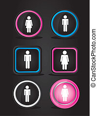 men and women signs