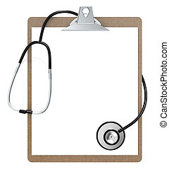 Clipboard and Stethoscope - The Classic Clipboard and...