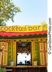 Tropical Cocktail Bar - A tropical cocktail bar, with the...