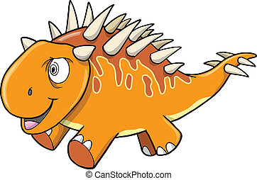 Crazy Insane Orange Dinosaur Vector