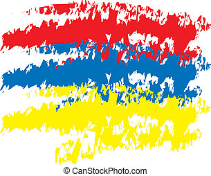 Primary Color Stripes - three stripes of the primary colors,...