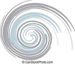 Blue Gray Swirl  - blue and gray swirl background