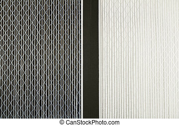 Dirty and Clean Air Filters - Close up side by side...