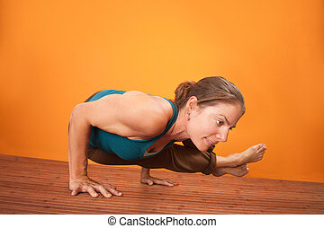 Woman In Yoga Posture