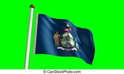 Maine flag (with green screen)