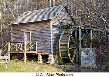 Old Mill - Renovated gristmill at Big Ridge State Park,...