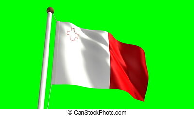 Malta flag (with green screen)
