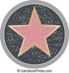 Hollywood Star - Reminiscent of a Hollywood sidewalk star.