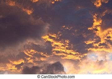 Dusky Cloudy Sky